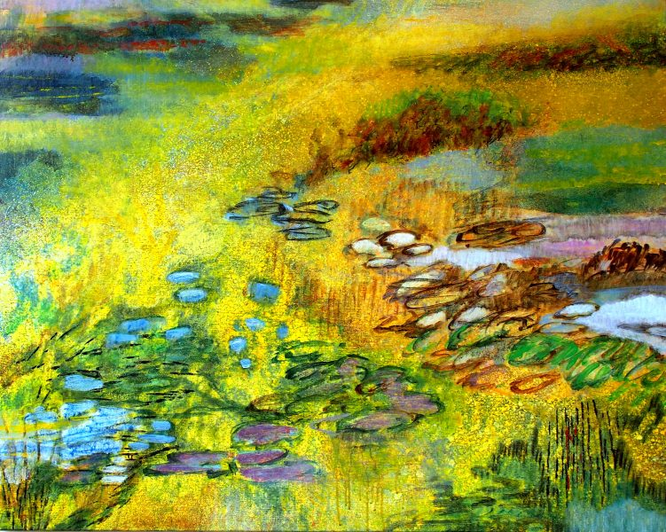 Toundra 2 - Aquarelle / Toile  73 x 92 - Ref 199