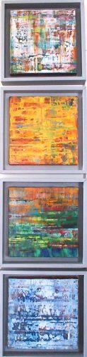 Quatre saisons - Huile / Toile 20 x 20 x4 - Ref 207