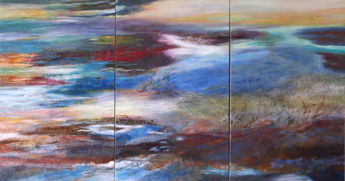 Paysage - Huile / Toile  Tryptique  130 x 243 - Ref 209-186-185