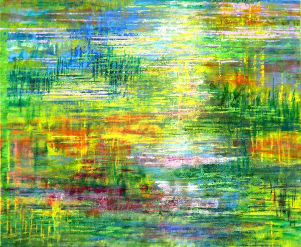 Petit paysage d'eau - Huile / Toile 38 x 46 - Ref 243
