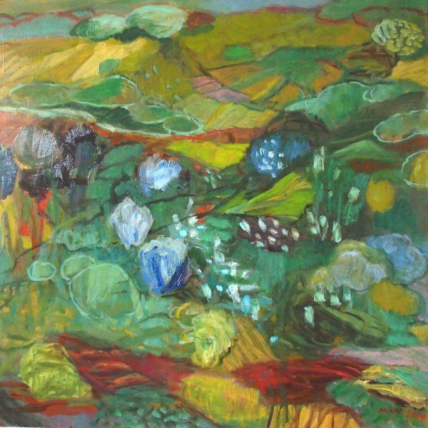Les cerisiers h/t 60x60 - 2000  Ref. 245