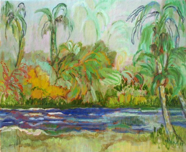 La Rivière Huile / Toile  38 x 46 Ref 249