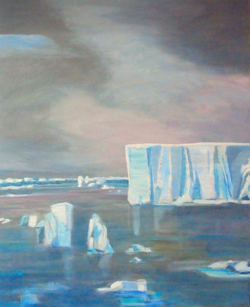 Icebergs - Huile / Toile 100 x 81 - Ref 130